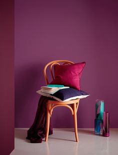 Bold on trend shades designed to complement Crown Paints Standard Emulsion. Shown here in Scrumptious by Crown Paints.