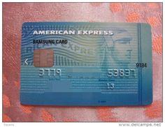Korean invalided credit card, American Express Samsung card, chip card, rare