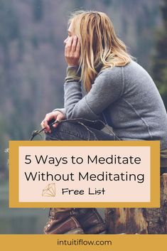 5 tips for meditating when you can't stop your busy brain.  Beginners can find it difficult to calm their mind, but meditation isn't about calming your mind, it's about observing and letting go of thoughts that float by.  Let me show you how...