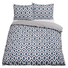 Buy John Lewis & Partners Crisp and Fresh Indah Cotton Duvet Cover and Pillowcase Set, Lagoon, Single set from our Duvet Covers range at John Lewis & Partners. Uni Bedroom, White Bedroom, Dream Bedroom, Master Bedroom, Indian Blue, Animal Nursery, Contemporary Bedroom, Colour Schemes, John Lewis