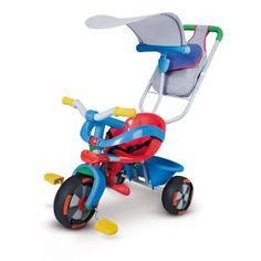 Triciclo para bebé con capota en http://www.tuverano.com/triciclos-infantiles/277-triciclo-smoby.html