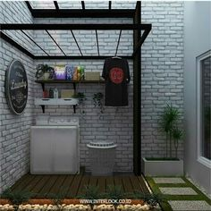 Modern Laundry Rooms, Laundry Room Layouts, Laundry Room Organization, Laundry Room Design, Home Room Design, Design Bathroom, Outdoor Laundry Area, Drying Room, Minimal House Design