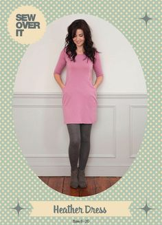 Heather Dress Sewing Pattern | Sew Over It | the perfect jersey dress for snuggling up for winter!