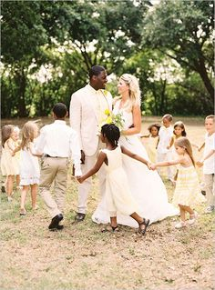Interracial wedding. Interracial couple.