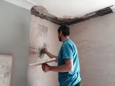 Baumit RK38 base coat lime plaster on Hemp and lime internal wall insulation.
