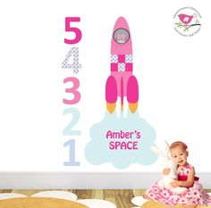 Launching Rocket Nursery Wall Stickers / decals - pinned by pin4etsy.com