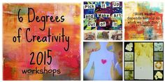6 Degrees of Creativity 2015 Workshops Now Open: Uniting concepts of social networking, connecting, collaboration, art making, and creativity into a community of artists exploring transformation and creative goodness. Maya Angelo, Creative Arts And Crafts, Creative Ideas, Creativity Online, Art Therapy, Therapy Ideas, Expressive Art, Handmade Books, Art Lesson Plans