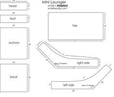 Mini lounger pattern and free tutorial Toddler Furniture, Diy Furniture, Toddler Chair, Sewing For Kids, Diy For Kids, Bean Bags Australia, Refurbished Chairs, Diy Bean Bag, Bean Bag Lounger