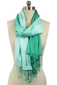 Summer Ombre Scarf - Emerald...love the style, but in more of an aqua/turquoise color.