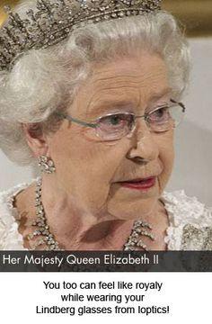 8c9600ecd42 Queen Elizabeth II wearing Lindberg glasses. Optometry
