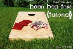 DIY gift idea - bean bag toss.  Tutorial to build your own.