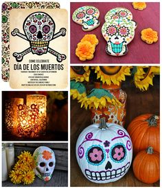 Dia De Los Muertos Party on the Tinyprints Blog