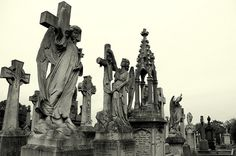 City of Angels    Angel statues at Rock cemetery, Nottingham. photo by clcg28 on Flickr