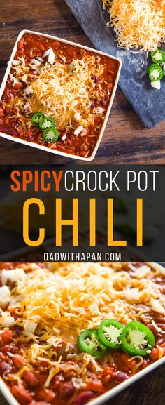 Slow cooked Crock Pot Chili with Ground beef tomatoes, beans and jalapenos and a spicy seasoning, This Crock Pot chili is a great meal for…