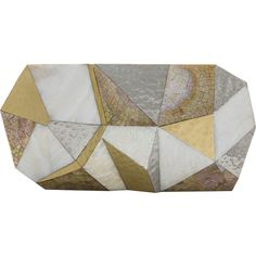 VIVIENNE Faceted Minaudiere Gold/Silver/White RAFE New York ❤ liked on Polyvore featuring bags, handbags, clutches, silver minaudiere, white purse, white clutches, silver purse and white handbag