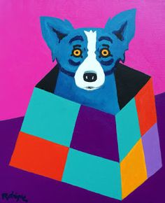 """Box for a Cool Cat"" 2003  Painting 