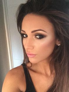 Gorgeous Makeup by Michelle Keegan in Motives Present Palette and Custom Foundation!   #Hair #Eyes #Makeup