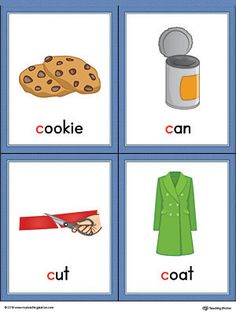 Letter C Words And Pictures Printable Cards Co E Can Cut Coat