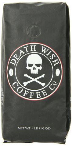 Amazon.com : Death Wish Coffee, The World's Strongest Coffee, Fair Trade, Organic, Ground Coffee Beans, 16 Ounce Bag : Grocery & Gourmet Foo...