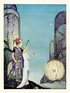 'Tanglewood Tales' by Nathaniel Hawthorne contains masterful re-writings of well-known Greek myths with beautiful illustrations by Virginia Frances Sterrett Long John Silver, Art And Illustration, Art Illustrations, French Fairy Tales, Nathaniel Hawthorne, Fairytale Art, American Artists, Fantasy Art, Book Art