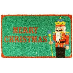 """Entryways Nutcracker Hand Woven Coir Doormat by Entryways. $39.99. This mat is hand stenciled with permanent fade-resistant dyes. 18 in x 30 in. Hand made from all-natural coconut fiber which is an excellent dirt-trapper; 3/4"""" thickness. This beautifully designed hand-woven doormat will enhance your entry way or patio. It's made from the highest quality all natural coconut fiber."""