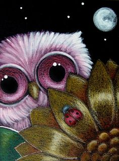'Baby Owl Looking for Ladybug' by Cyra R. Cancel