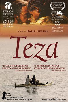 Teza, filme etíope. Uma bela etnografia da Etiópia no final do regime comunista.
