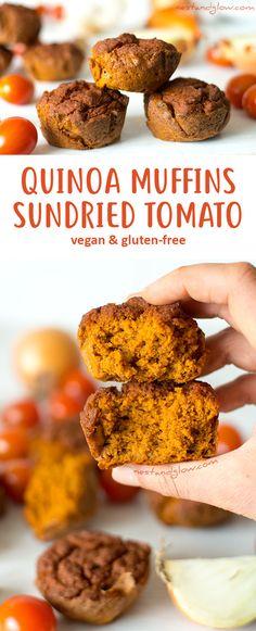 Quinoa Sundried Tomato Muffins - Vegan and Gluten-free via @nestandglow
