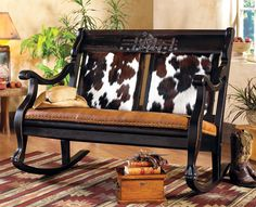 I SOOO want this! Western Leather Furniture & Cowboy Furnishings from Lones Star Western Decor Southwestern Chairs, Southwest Decor, Southwestern Decorating, Leather Furniture, Home Furniture, Cowhide Furniture, Country Decor, Rustic Decor, Ranch Decor
