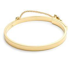 Rental Eddie Borgo Thin Safety Chain Bracelet ($25) ❤ liked on Polyvore featuring jewelry, bracelets, bracelete, gold, hinged bracelet, cuff bracelet, chain cuff bracelet, hinged cuff bracelet and hinged bangle