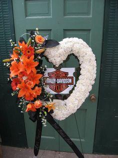 Harley Davidson heart.  By Jen-Mor Florist, Dover, DE www.jenmor.com
