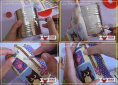 Porta papel higiênico feito com lata de Nescau passo a passo 1ª Parte