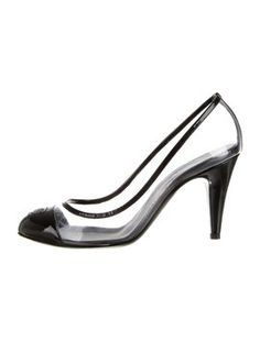 Chanel Pvc Patent Cc Black Pumps. Get the must-have pumps of this season! These Chanel Pvc Patent Cc Black Pumps are a top 10 member favorite on Tradesy. Save on yours before they're sold out!