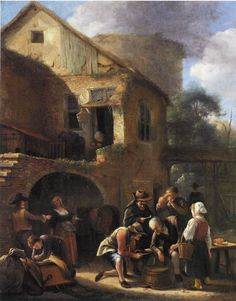 Jan Steen - A Party of Peasants