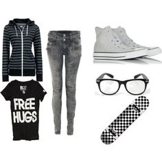 Repin: Minus the glasses, lol. Plus, I would need to learn how to skate in order to have a skate board (I do want to learn!)