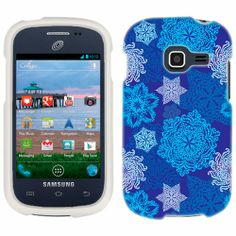 Samsung Galaxy Centura Blue SnowFlakes Pattern Phone Case Cover