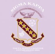 chapter crest with burgundy and gold for recruitment shirts