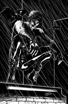 Inktober - The Crow by SamTodhunter on deviantART The Crow, Comic Books Art, Comic Art, Crow Movie, Gothic Fantasy Art, Modern Magic, Brandon Lee, Bruce Lee, Crow Art
