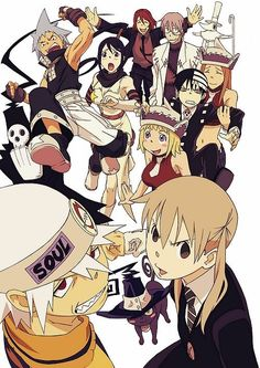 soul eater    Maka and the other students at the Death Weapon Meister Academy must kill 99 evil humans and other witch, absorbing their spirits when they die