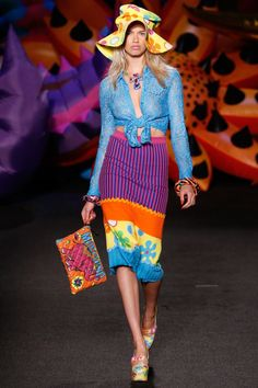 See the complete Moschino Resort 2017 collection --I love eclectic looks.