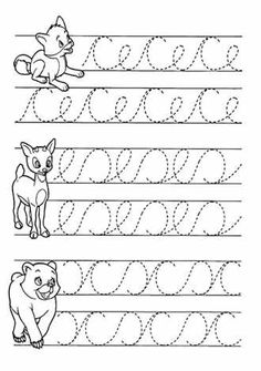 Trace the Dotted Lines Worksheets for Kids - Preschool and Kindergarten Teaching Cursive Writing, Cursive Writing Worksheets, Preschool Writing, Tracing Worksheets, Free Preschool, Pre Writing, Preschool Worksheets, Toddler Preschool, Preschool Alphabet