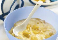 Papinha nutritiva  Ingredientes  1 pêra madura  1 ameixa  80 ml de água de coco  1 colher (sopa) de amaranto em flocos     Mod...