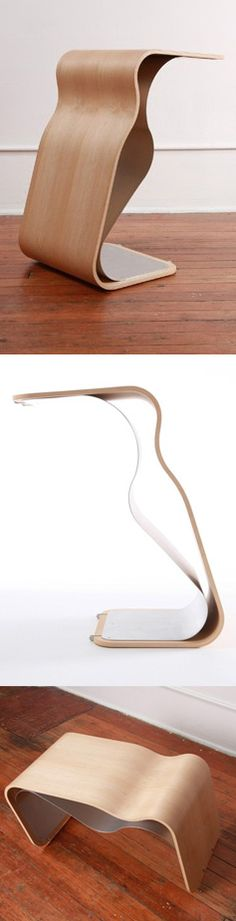 Heron table // elegant multipurpose table that can be used upright or horizontal