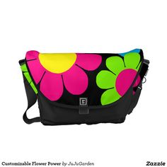 Customizable Flower Power Courier Bag