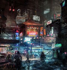 Concept by Riana Møller. Very 'Blade Runner'.