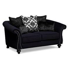 Lovely Elegance Upholstery Loveseat   Value City Furniture