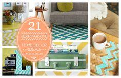 Super cute herringbone home decor ideas! #herringbone #homedecor