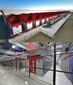 Switch's SuperNAP complex in Las Vegas has expansion plans for a total of 2.2 million square feet (204,387 square metres) of data center space. (Images: Switch Communications Group)