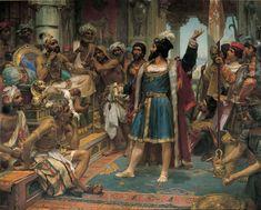 Vasco da Gama perante o Samorim de Calecute (1898), Veloso Salgado.