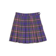【PECO CLUB】PECO オリジナルチェックプリーツSK ❤ liked on Polyvore featuring skirts, bottoms, bubble skirt and blue skirt
